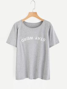 Heather Knit Graphic Tee