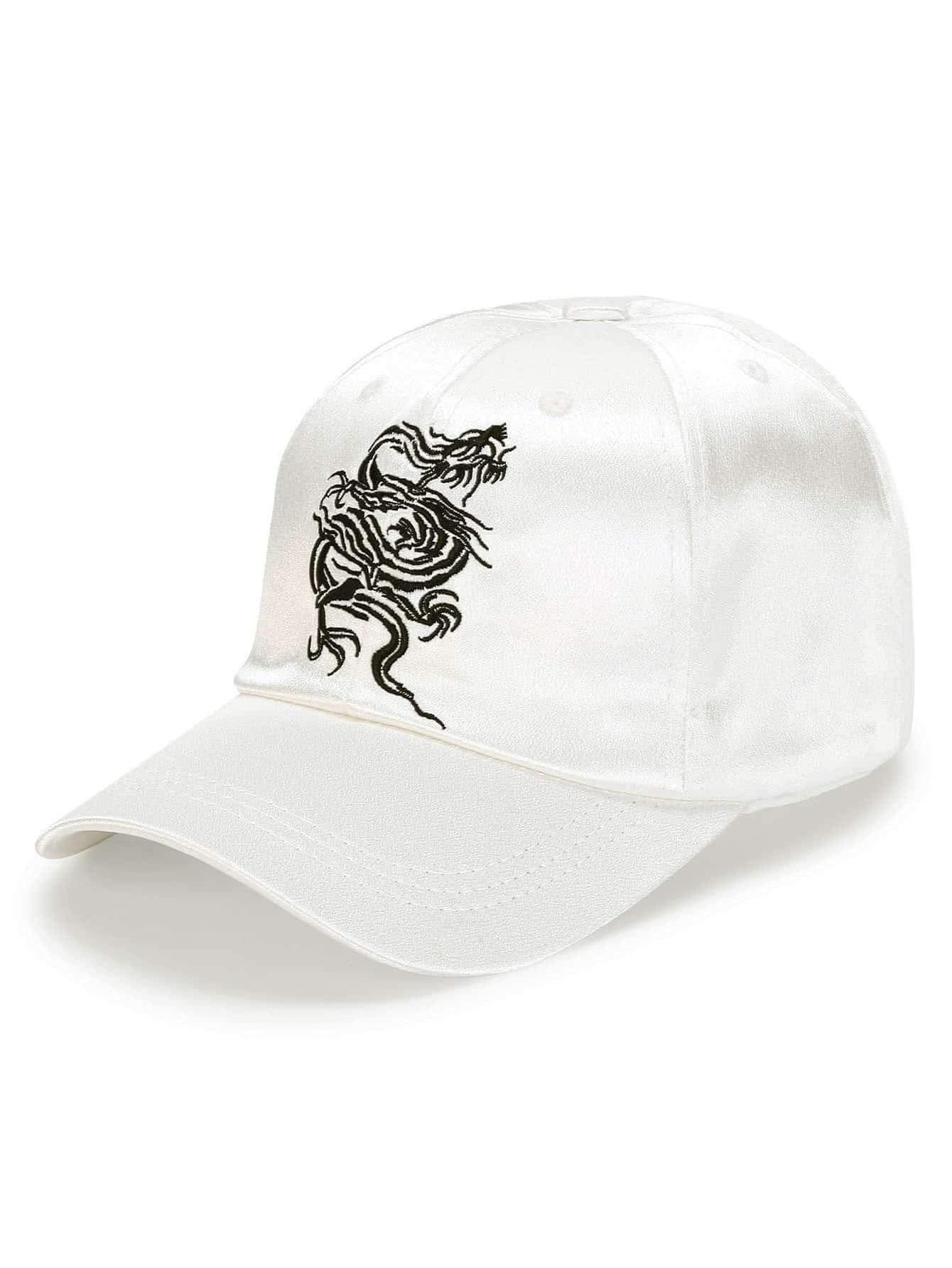 Фото Embroidery Dragon Satin Baseball Cap. Купить с доставкой