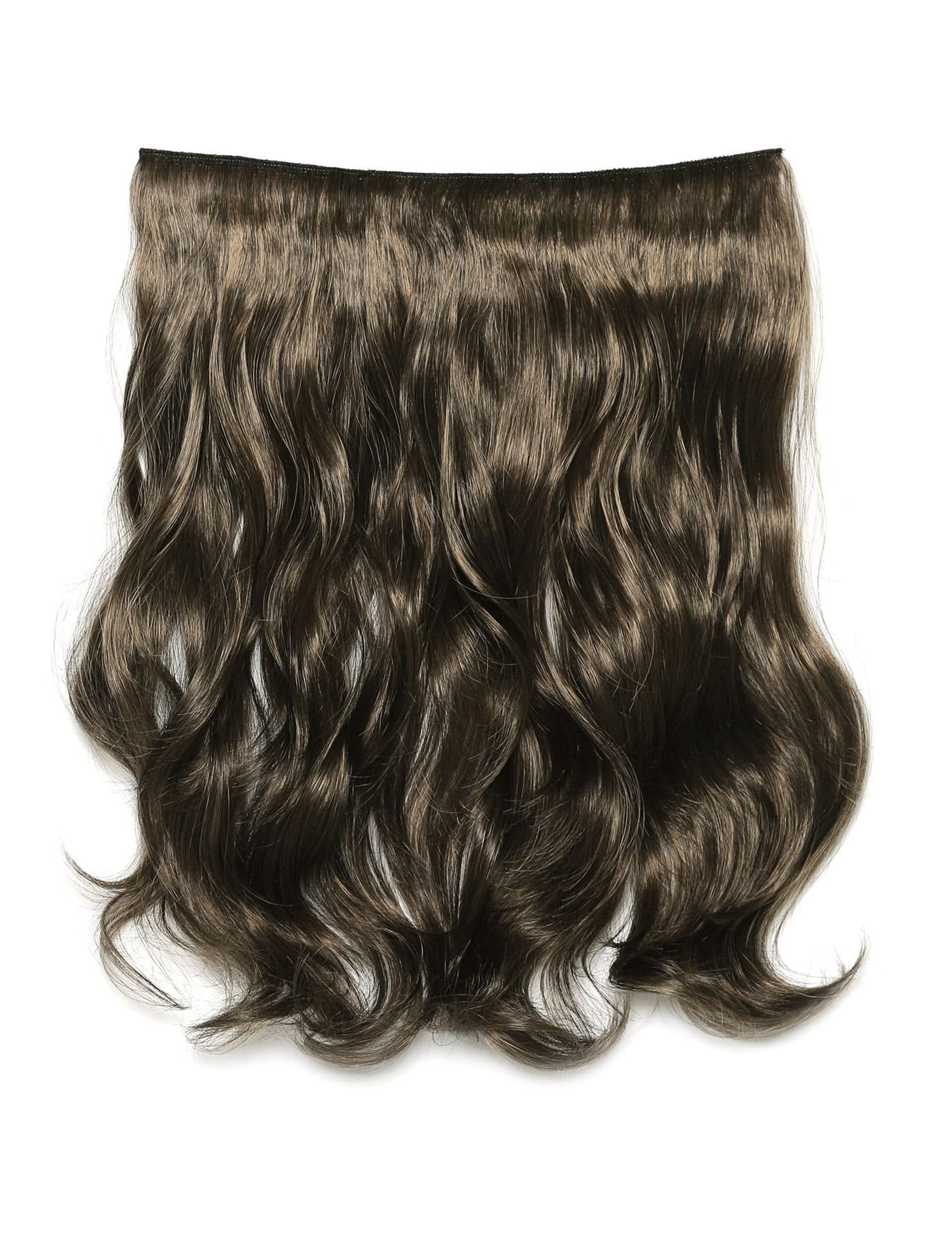 Фото Dark Brown & Caramel Clip In Soft Wave Hair Extension. Купить с доставкой