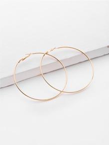 Boucles d\'oreille minimaliste en métal