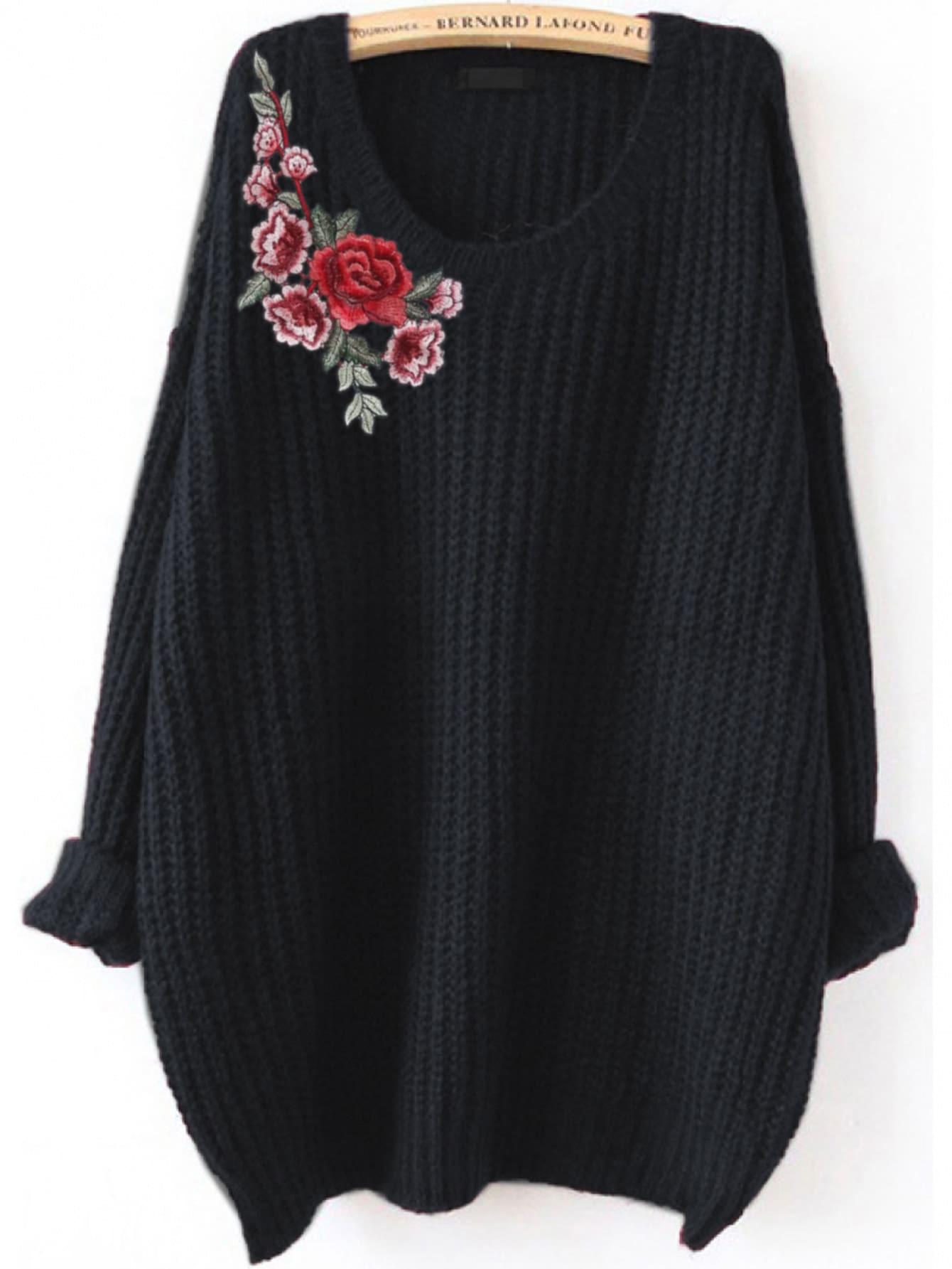 Embroidered Flower Patch Jumper girls spot embroidered sleeveless jumper