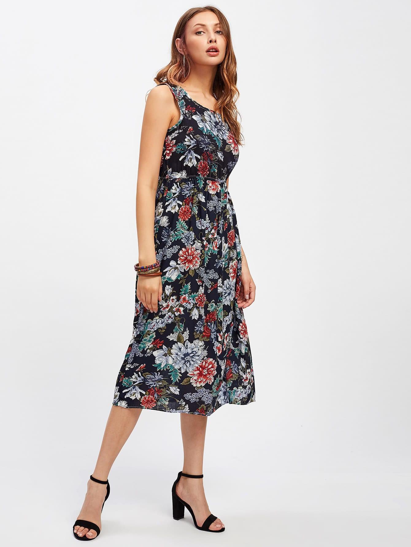 Фото Peony Allover Print Tank Dress. Купить с доставкой
