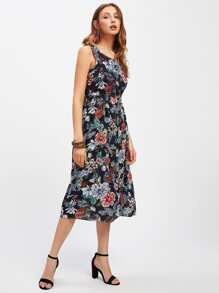 Peony Allover Print Tank Dress
