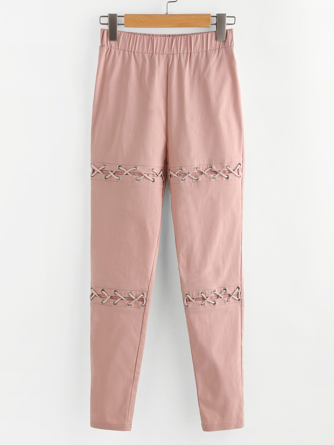 Фото Eyelet Lace Up Detail Pants. Купить с доставкой