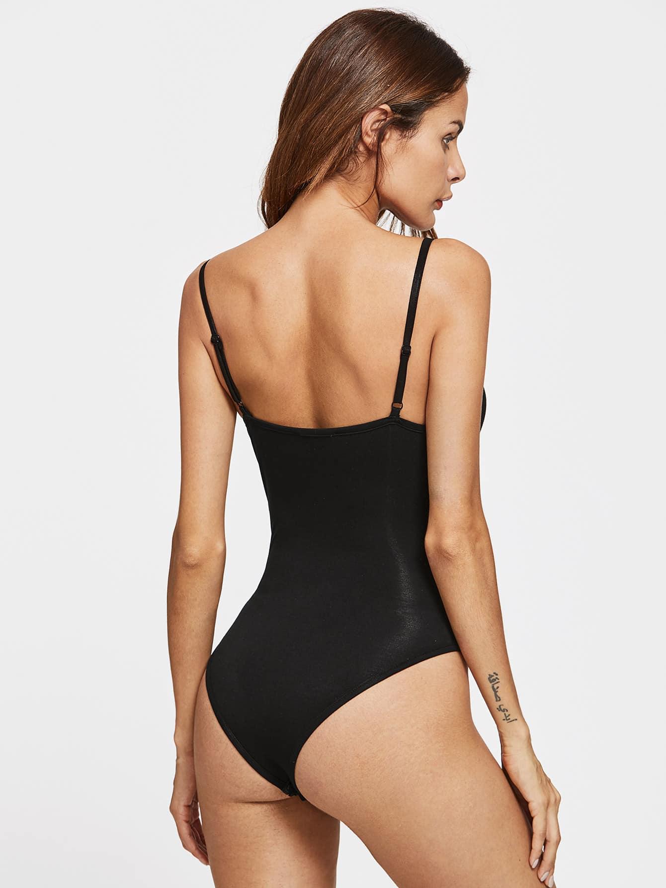 Crisscross Strappy Cami Bodysuit