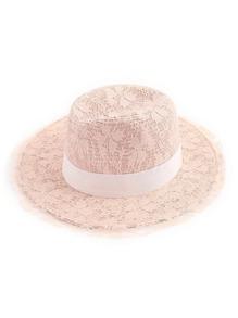 Lace Overlay Fedora Hat
