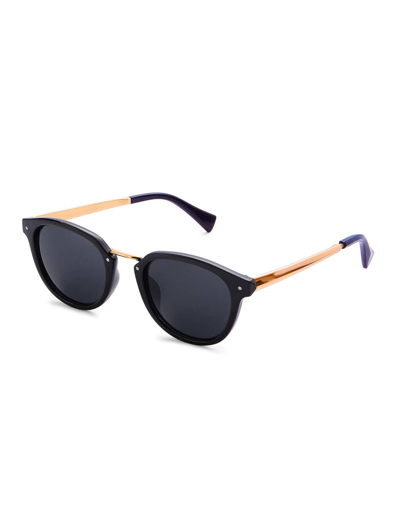 Фото Metal Detail Flat Lens Sunglasses. Купить с доставкой
