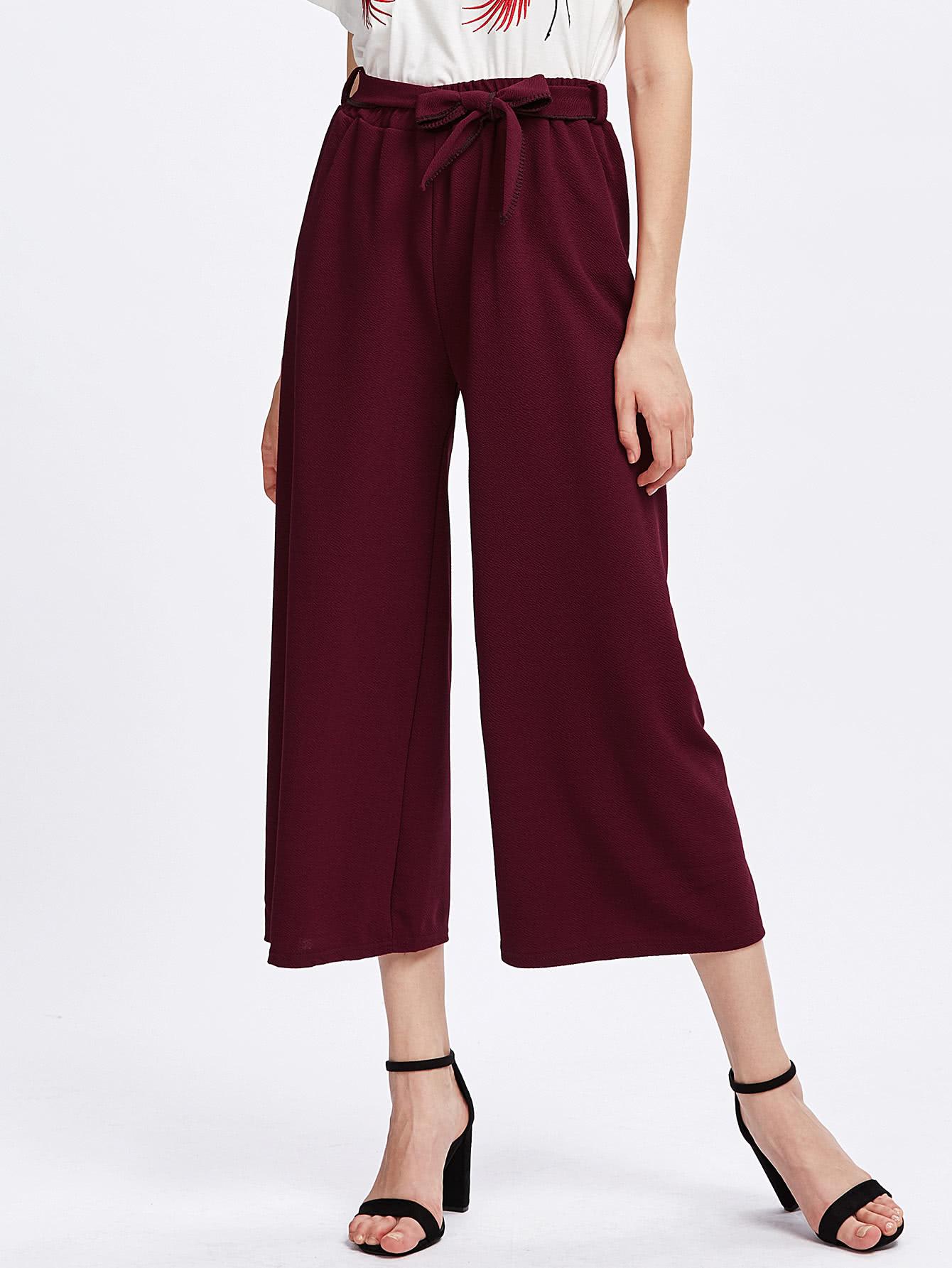 Self Tie Wide Leg Pants pants170706101