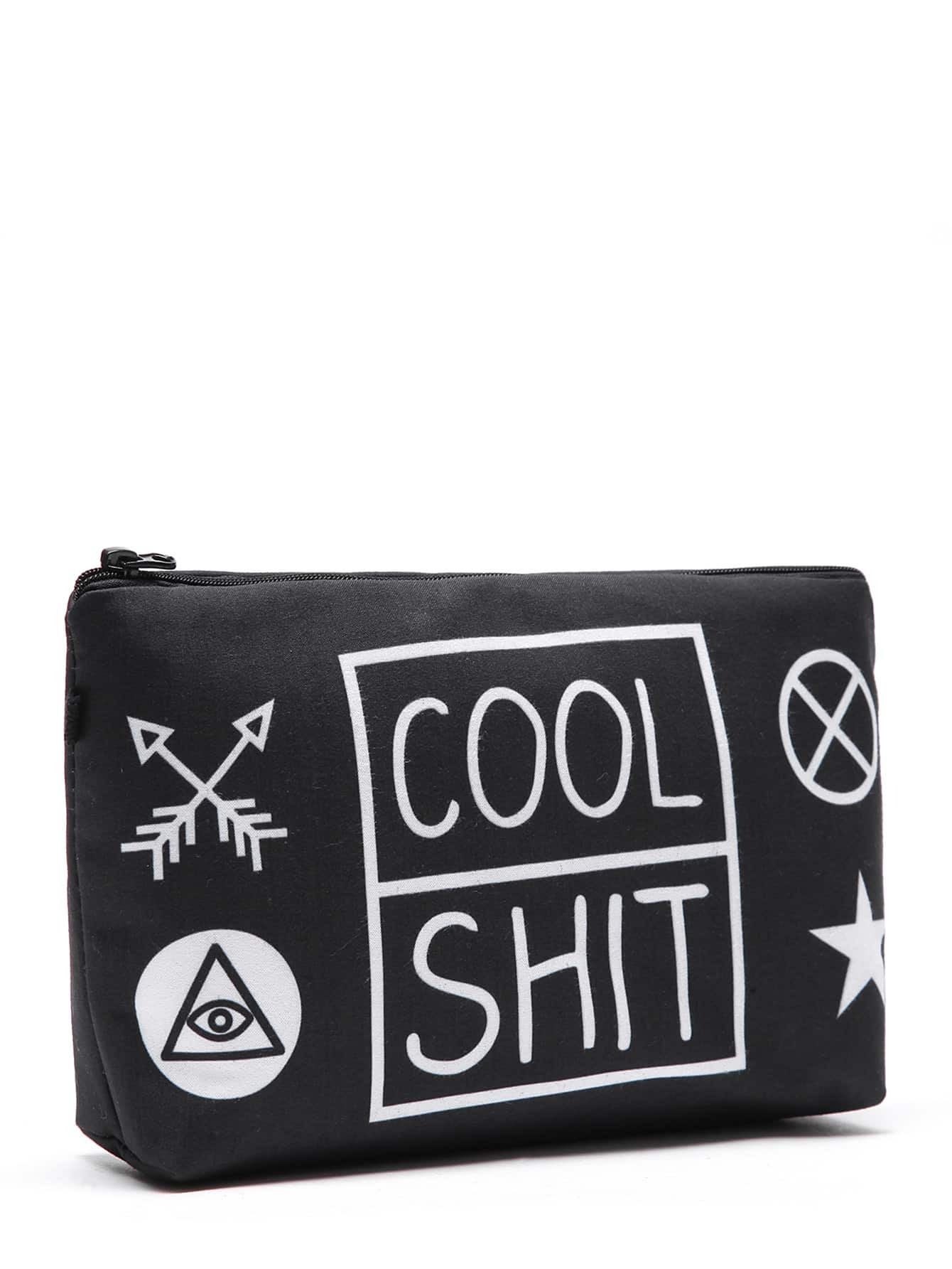 Graphic Print Makeup Bag
