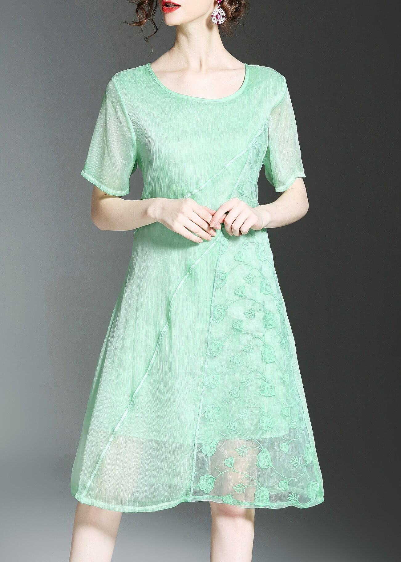Фото Flowers Embroidered Sheer Dress. Купить с доставкой