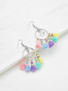 Mini Crystal Tassel Drop Earrings