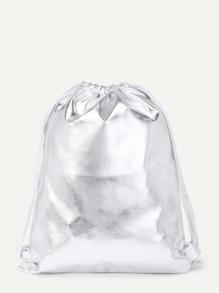 Модный кожаный рюкзак на кулиске