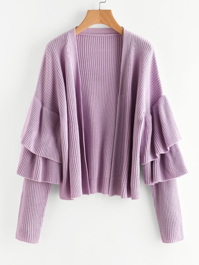 Layered Frill Trim Cardigan