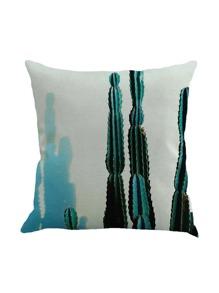 3D Cactus Print Cushion Cover