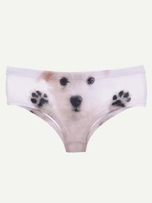 Panty mignon imprimé du chien