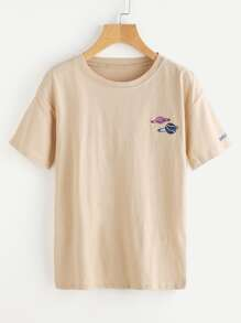 Graphic Embroidered Tee