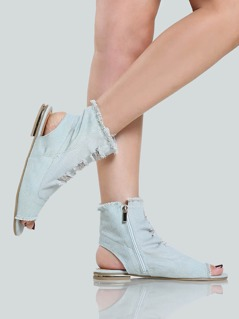 Denim Shootie Sandals LIGHT DENIM