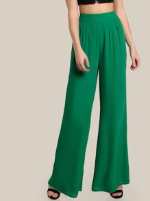 Pantalons palazzo avec des plis
