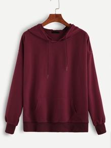 Sudadera con capucha y cordón - rojo