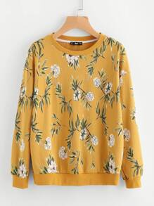 Flower Print Sweatshirt