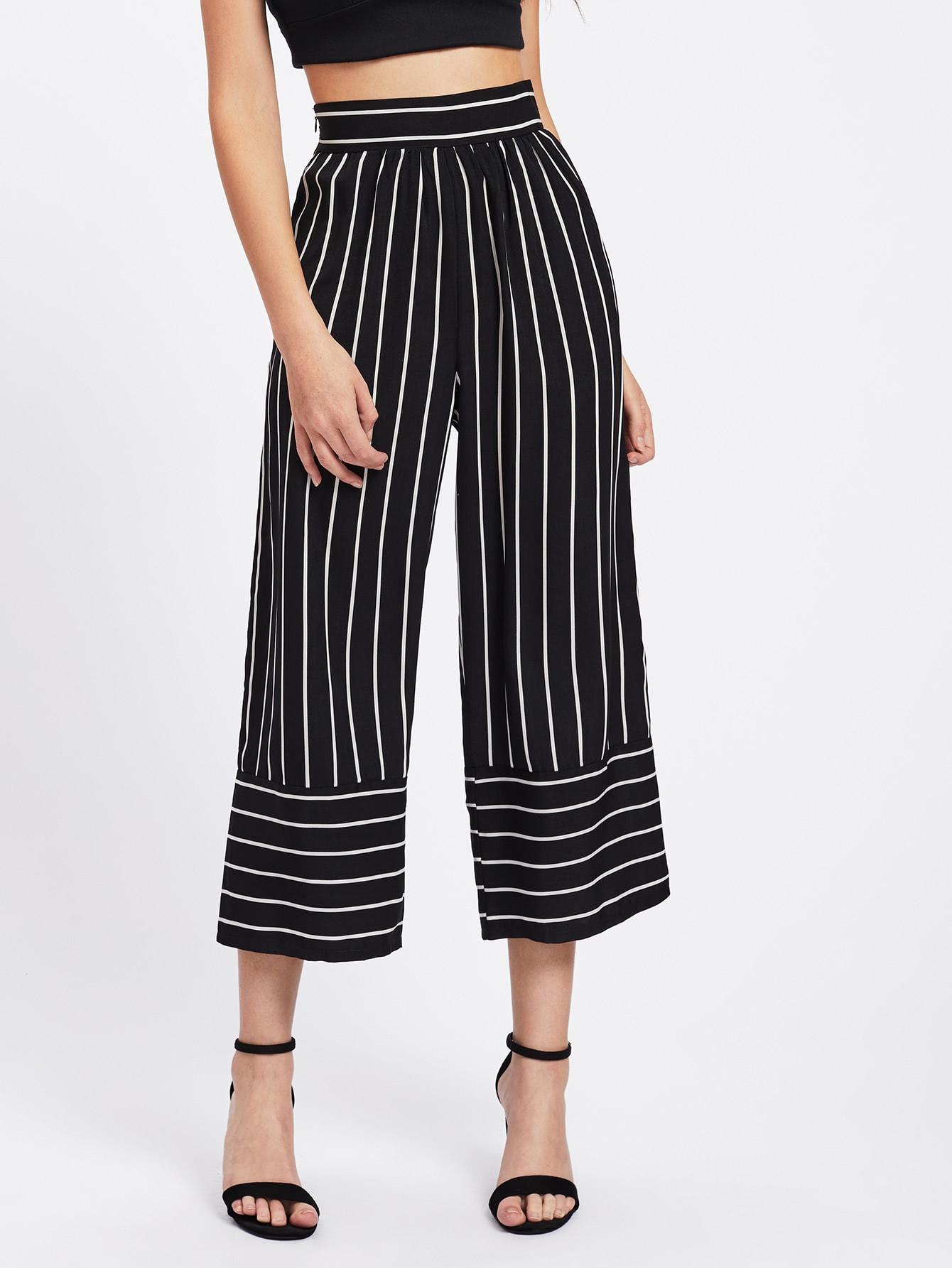 Фото Striped Wide Leg Pants. Купить с доставкой
