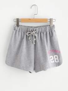 Heather Knit Sweat Shorts