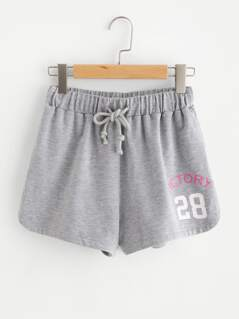Heather Knit Sweat Shorts
