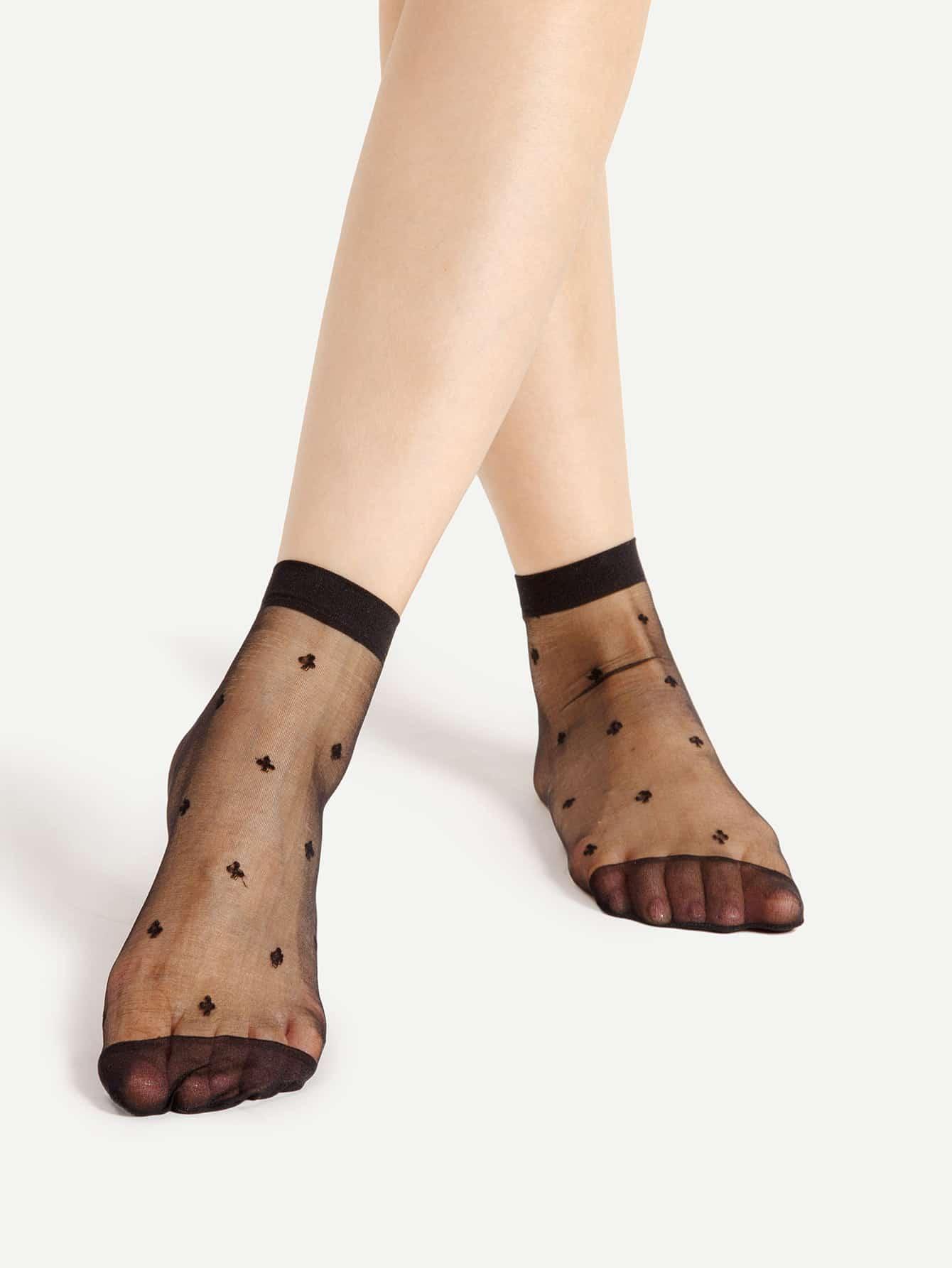 Sheer Mesh Ankle Socks 2pairs