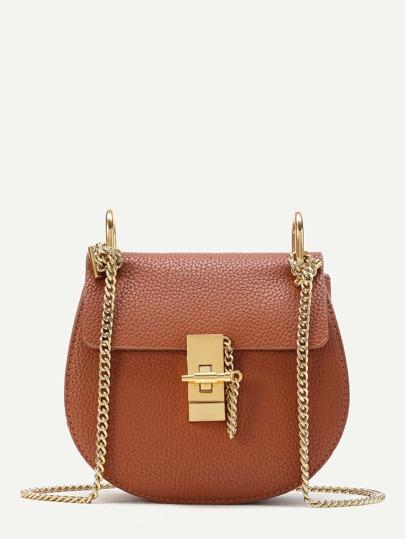 PU Saddle Chain Bag