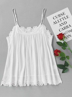 Eyelet Embroidered Swing Cami Top