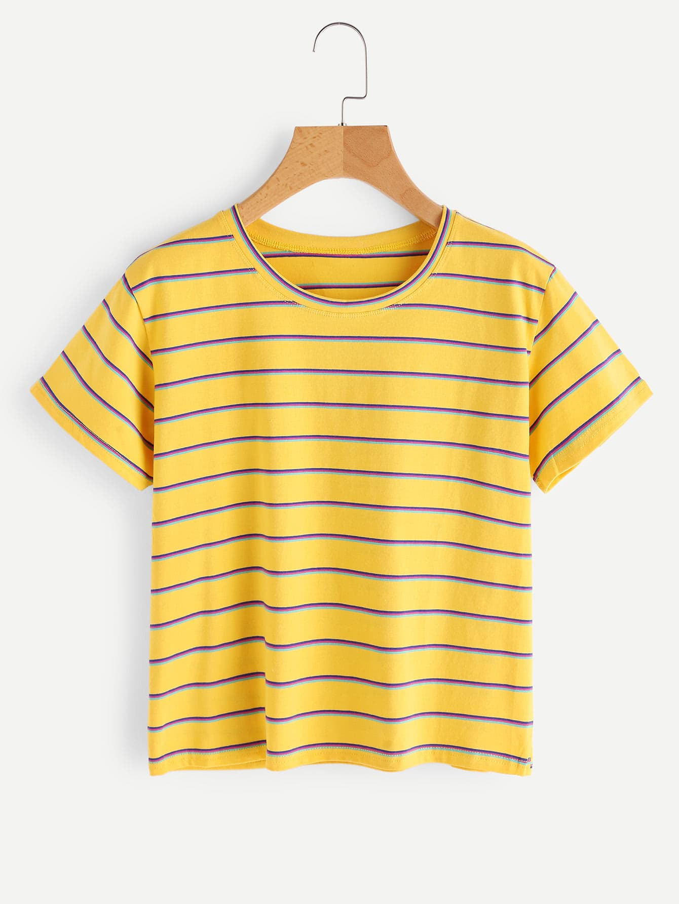 Sadler Stripe Knit Tee | Casual and cute with a flirty ruffled sleeve, this tee is an easy yet pretty piece that makes looking pulled-together a breeze. | Draper James JavaScript seems to .