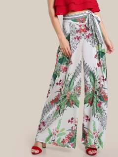 Multi Print High Rise Pants OFF WHITE
