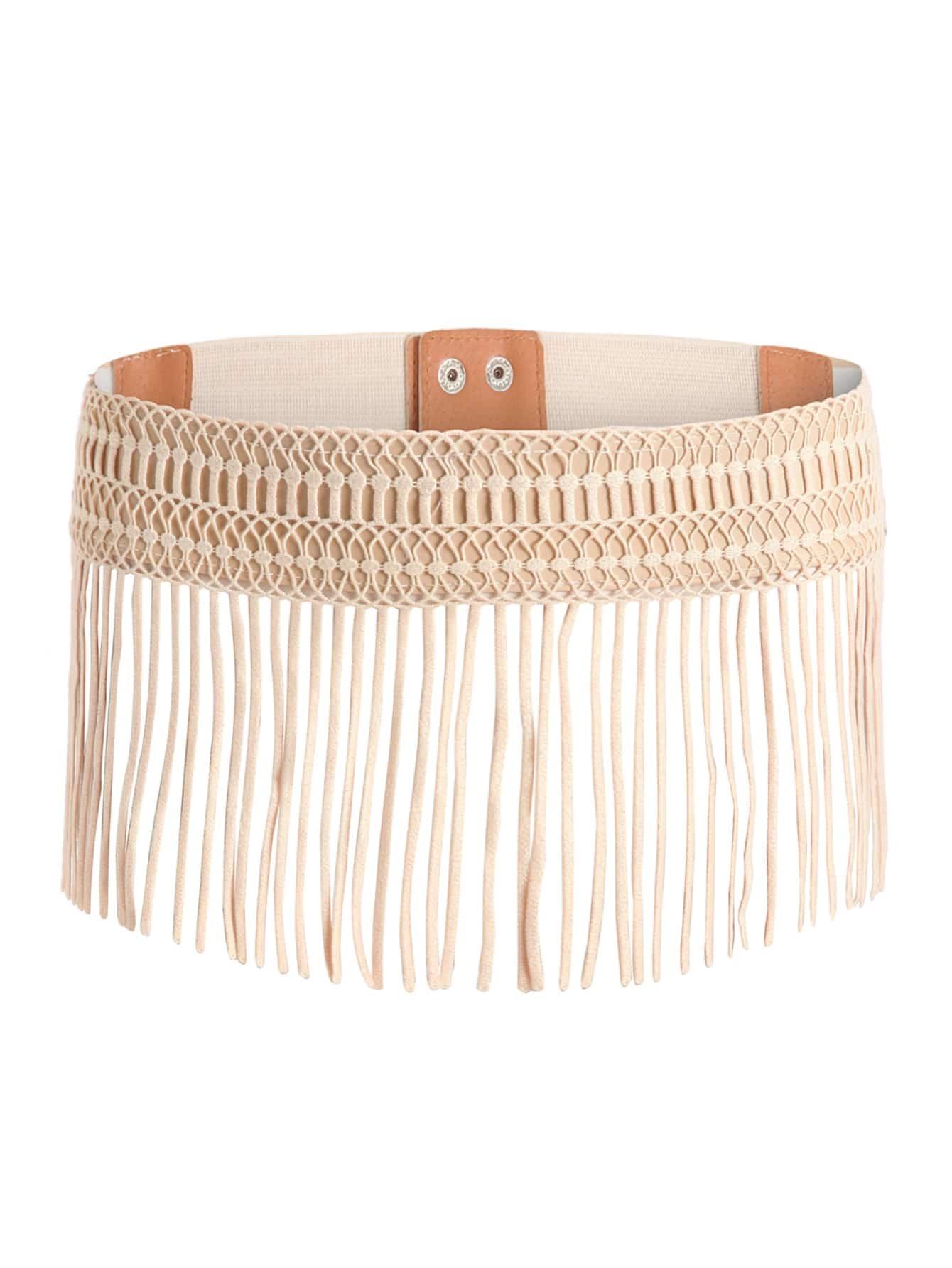 Фото Crochet Overlay Fringe Design Waist Belt. Купить с доставкой