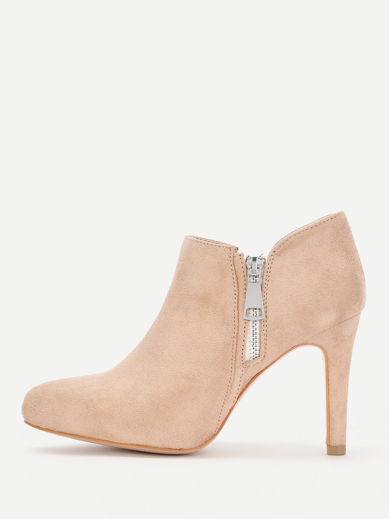 Pointed Toe Side Zipper Ankle Boots