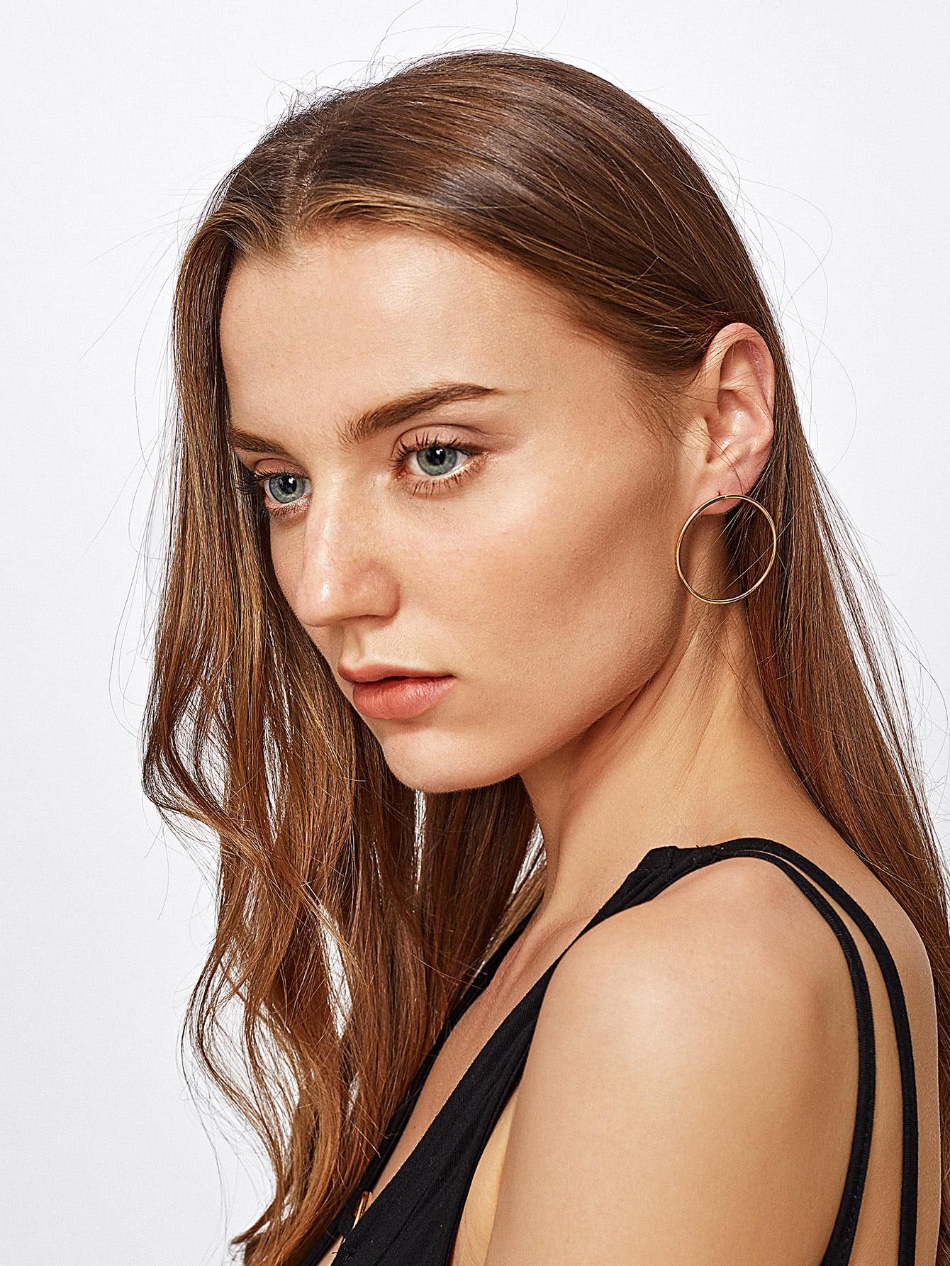 Minimalist Metal Hoop Earrings