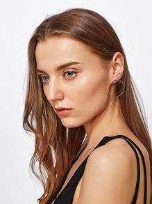 Minimalistische Metallband Ohrringe