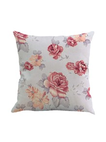 Flower Print Pillowcase Cover