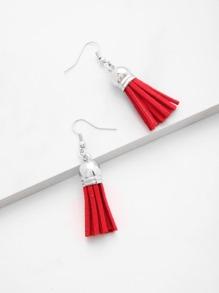 Minimalist Tassel Drop Earrings