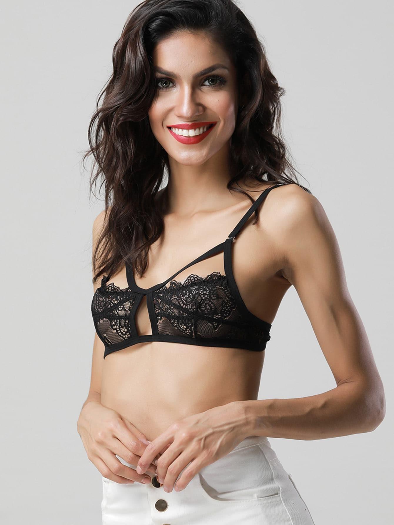 Cutout Detail Lace Bralette lingerie170703303
