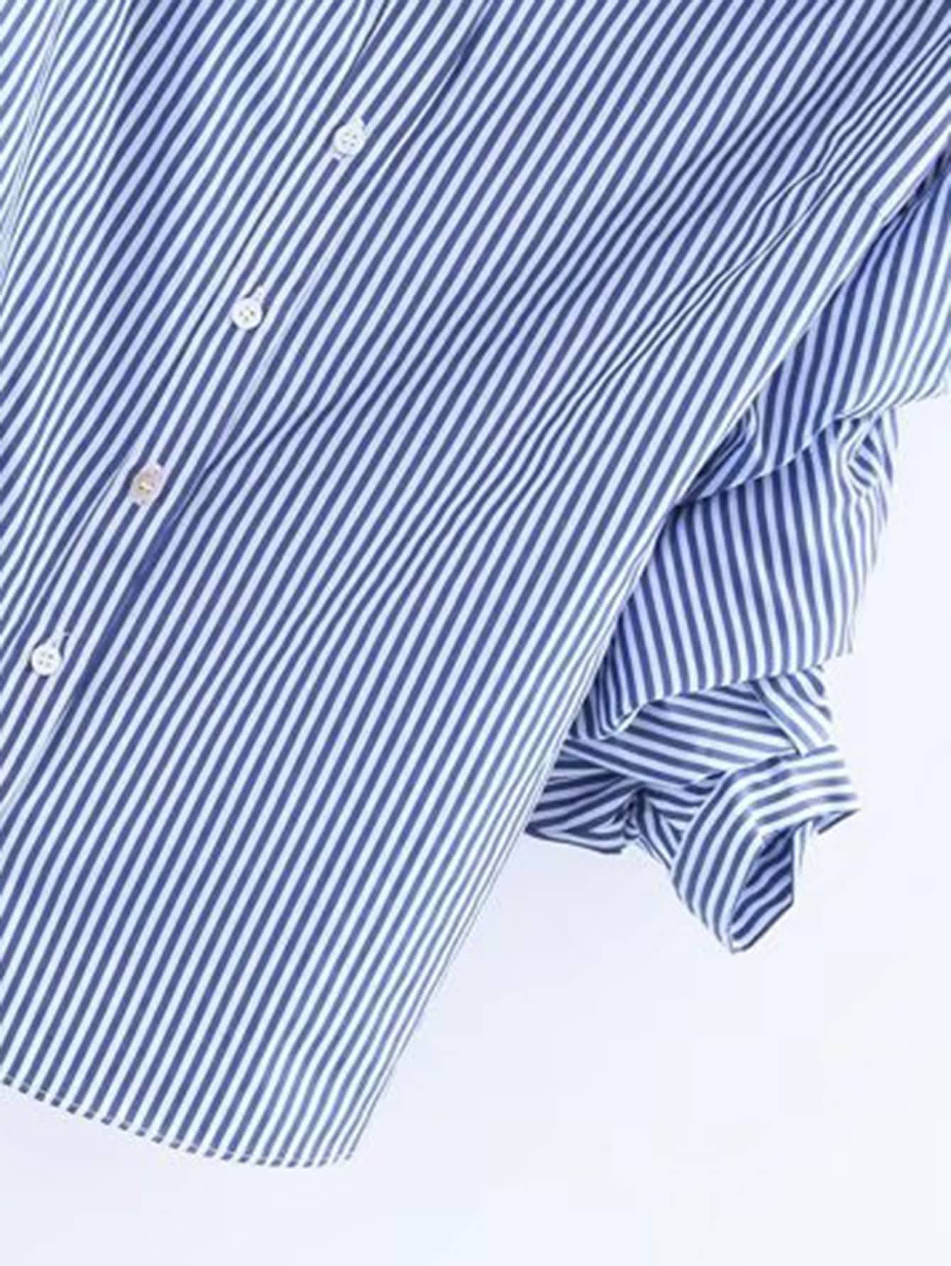 Blusa de rayas verticales con cuello barco spanish romwe - Paredes a rayas verticales ...