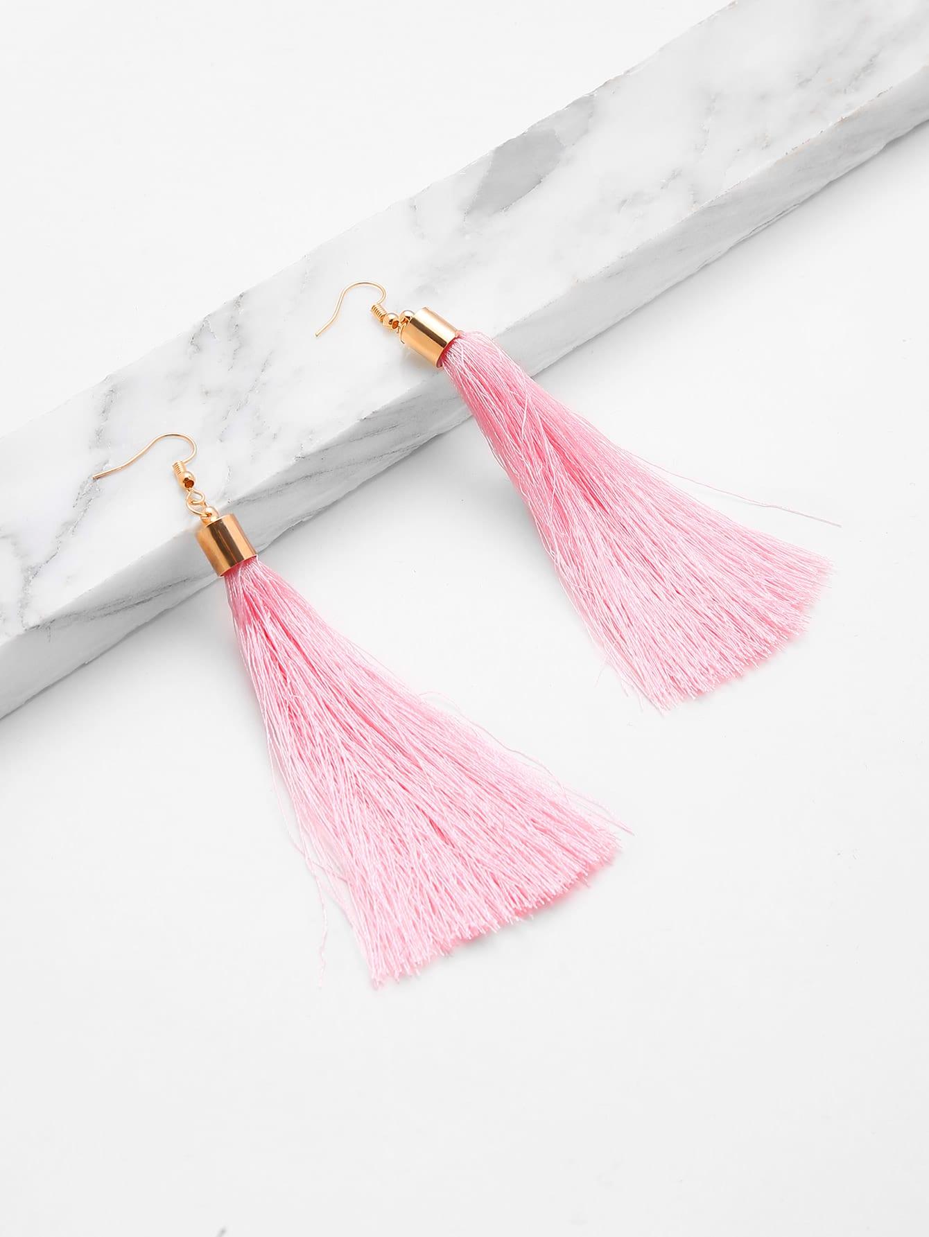 Фото Cute Tassel Drop Earrings. Купить с доставкой