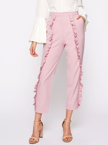 Frill Detail Tailored Pants