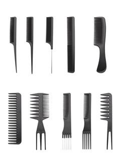 Multi Shaped Hair Comb Set 10pcs