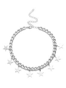 Star Embellished Chain Choker