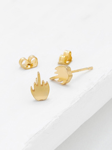 Geometric Design Cute Stud Earrings
