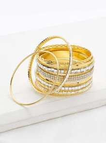 Ensemble de bracelet charmant avec strass