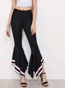 Striped Handkerchief Hem Pants