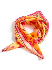 Pañuelo cuadrado con estampado floral