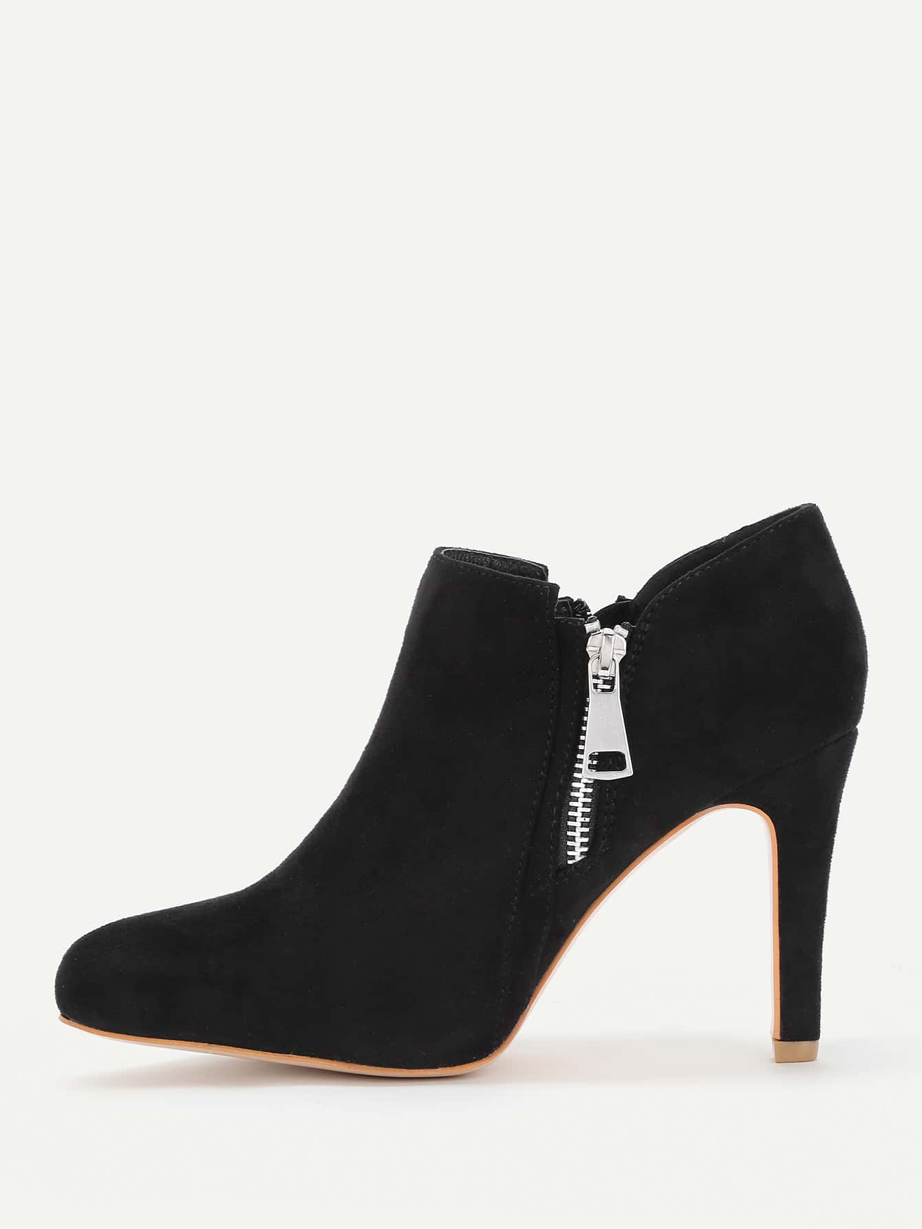 Фото Pointed Toe Side Zipper Ankle Boots. Купить с доставкой