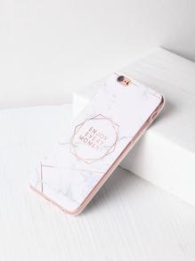 Marbre, modèle, lettre, impression, iPhone,, cas